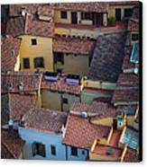 Tuscan Rooftops Canvas Print by Inge Johnsson
