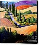 Tuscan Trail Canvas Print by Michael Swanson