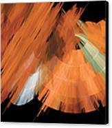 Tutu Stage Left Peach Abstract Canvas Print by Andee Design