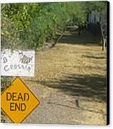 Tv Movie Homage Killer Bees 1974 B's Crossing Black Canyon City Arizona 2004 Canvas Print by David Lee Guss