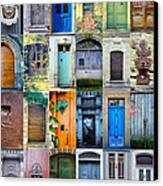 Twenty Four French Doors Collage Canvas Print by Georgia Fowler