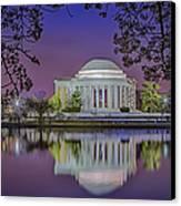 Twilight At The Thomas Jefferson Memorial  Canvas Print by Susan Candelario