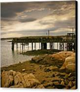 Twilight Cape Porpoise Maine Canvas Print by Bob Orsillo