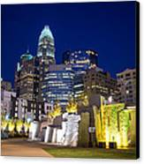 Twilight In Charlotte Canvas Print by Serge Skiba