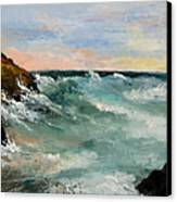 Twilight Surf Canvas Print by Larry Martin