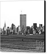 Twin Towers From Staten Island Canvas Print by John Rizzuto