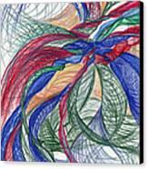 Twirls And Cloth Canvas Print by Kelly K H B