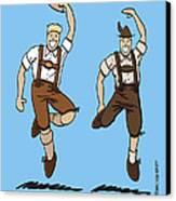 Two Bavarian Lederhosen Men Canvas Print by Frank Ramspott
