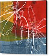 Two Flowers Canvas Print by Linda Woods