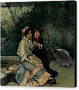 Two Spanish Women Canvas Print by Ricardo de Madrazo y Garreta