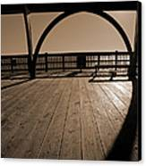 Tybee Island Pier Canvas Print by Steven  Michael