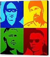 U2 Canvas Print by John  Nolan