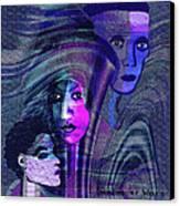 Una Madonna Arrabbiata - 315   Canvas Print by Irmgard Schoendorf Welch