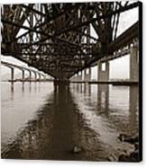 Under Bridges Canvas Print by Donna Blackhall