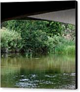 Under The Bridge Canvas Print by Ernie Echols