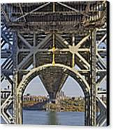 Under The George Washington Bridge I Canvas Print by Susan Candelario