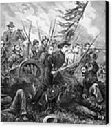 Union Charge At The Battle Of Gettysburg Canvas Print by War Is Hell Store