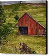 Unique Barn In The Palouse Canvas Print by Priscilla Burgers