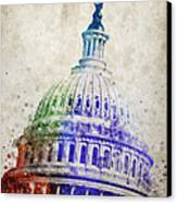 United States Capitol Dome Canvas Print by Aged Pixel