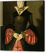 Unknown Lady From The Court Of King Canvas Print by Hans Eworth or Ewoutsz