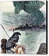 U.s. Cartoon: Cholera, 1883 Canvas Print by Granger
