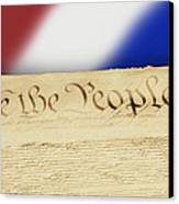Us Constitution Canvas Print by Linda Phelps