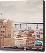 Us Grant Hotel In San Diego Canvas Print by Mary Helmreich
