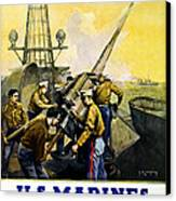Us Marines Canvas Print by Leon Alaric Shafer
