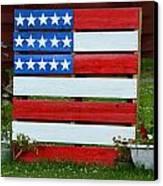 Usa Flag Canvas Print by Kim Stafford
