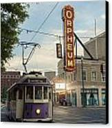 Usa, Tennessee, Vintage Streetcar Canvas Print by Dosfotos
