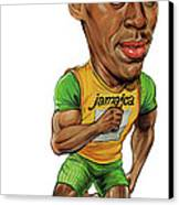 Usain Bolt Canvas Print by Art