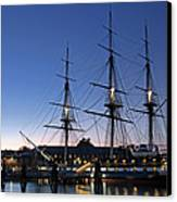 Uss Constitution And Bunker Hill Monument Canvas Print by Juergen Roth
