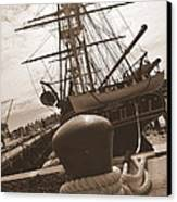 Uss Constitution Canvas Print by Catherine Reusch  Daley