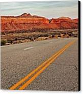 Utah Highway Canvas Print by Benjamin Yeager