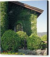 V Sattui Winery Vintage View Canvas Print by Michelle Wiarda