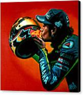 Valentino Rossi Portrait Canvas Print by Paul Meijering