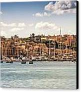 Port Of Valleta Canvas Print by Maria Coulson
