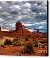 Valley Of The Gods Stormy Clouds Canvas Print by Robert Bales