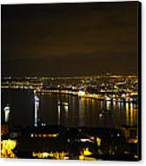 Valparaiso Harbor At Night Canvas Print by Kurt Van Wagner