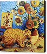 Van Gogh's Bad Cat Canvas Print by Eve Riser Roberts