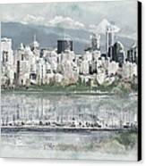 Vancouver Skyline Canvas Print by Maryam Mughal