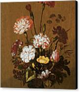 Vase Of Flowers Canvas Print by Hans Bollongier