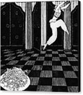 Vaslav Nijinsky In Scheherazade Canvas Print by Georges Barbier