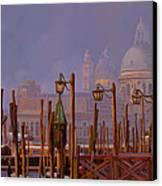 Venezia E La Nebbia Canvas Print by Guido Borelli