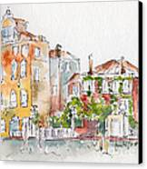 Venezia Grand Canal Canvas Print by Pat Katz