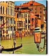 Venice Street Lamp Canvas Print by Mick Burkey