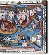 Venice. The Dock Of St. Mark Canvas Print by Everett