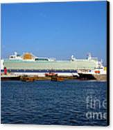 Ventura Sheildhall Calshot Spit And A Tug Canvas Print by Terri Waters