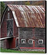 Vermont Barn Art Canvas Print by Juergen Roth