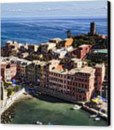 Vernazza From Above Canvas Print by George Oze